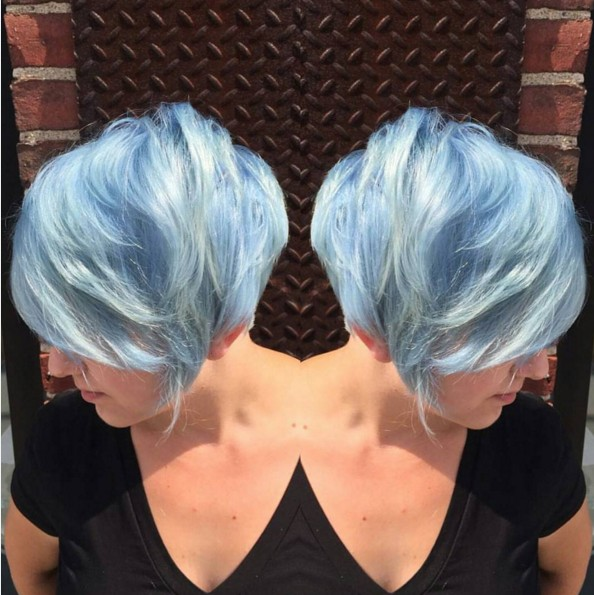 Colored Pixie Hairstyle