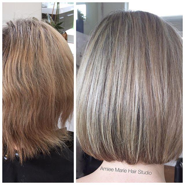Cooler Blonde bob haircut