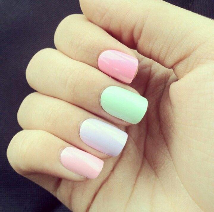 Cute Pastel Nails
