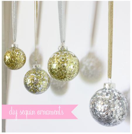 DIY Sequin Holiday Ornaments