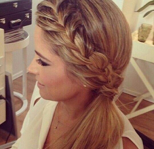 Dutch Braid Side Ponytail Hairstyle
