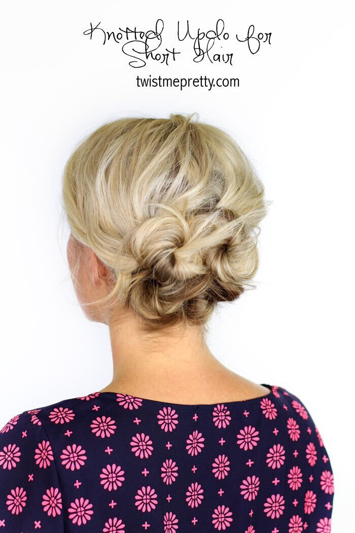 Easy Updo Hairstyle for Medium Hair