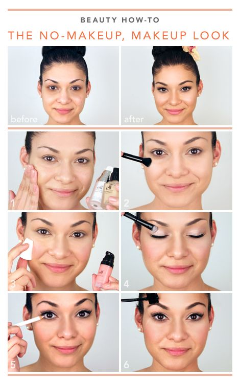 how to put on makeup without looking cakey