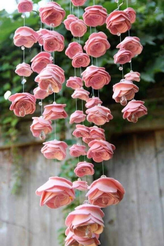 Diy flowers out of paper image collections flower decoration ideas 18 rose inspired diy projects pretty designs flower chandelier mightylinksfo image collections mightylinksfo