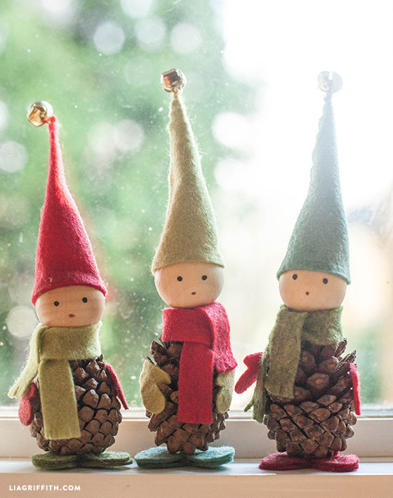 Funny Pine Cone Elves