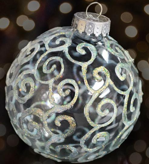 Glitter Swirls Ornaments