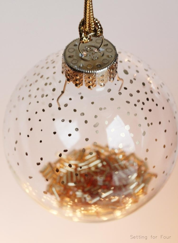 Golden Dot Christmas Ornaments
