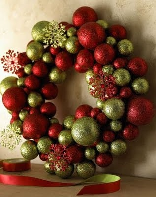 Happy Ornament Wreath