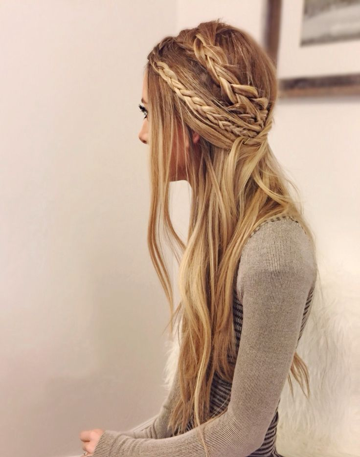 Hippie Braid Hairstyle