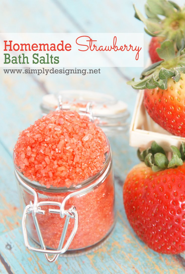 Homemade Strawberry Bath Salts