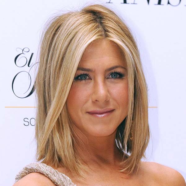 Jennifer-Aniston lob hairstyle for thin hair