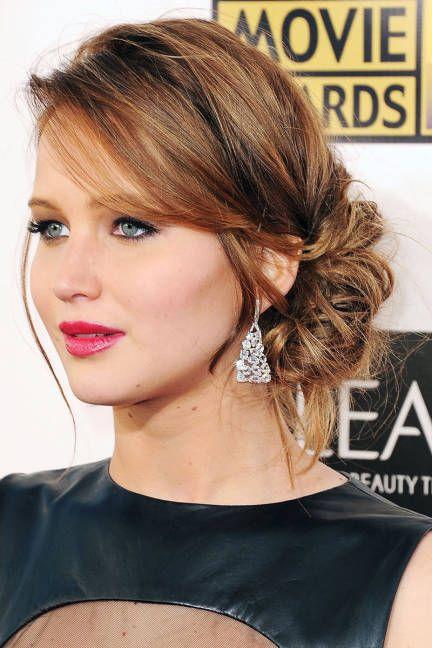 Jennifer Lawrence's Low Bun