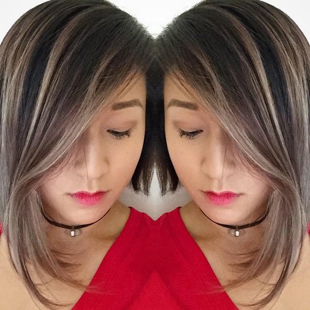 Long Angled Bob Hairstyle