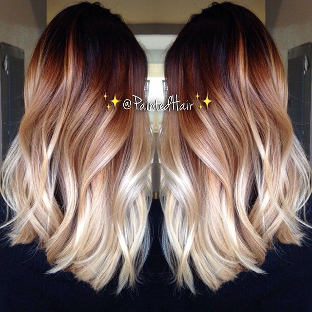 Layered Wavy Haircut for Ombre Hair
