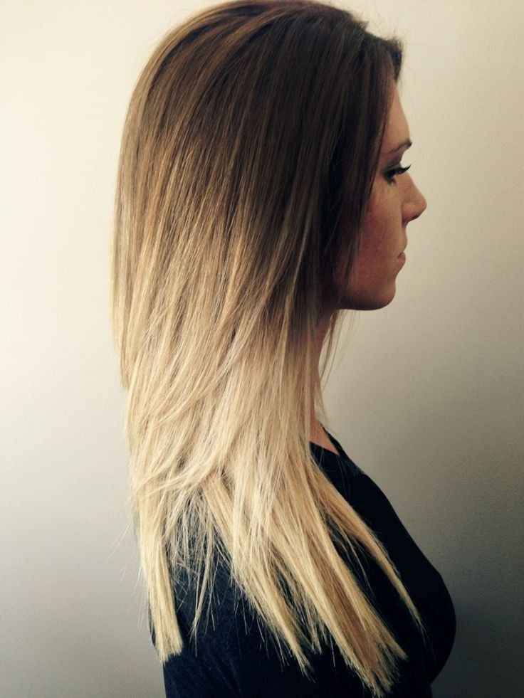 Long Layered Haircut for Ombre Hair