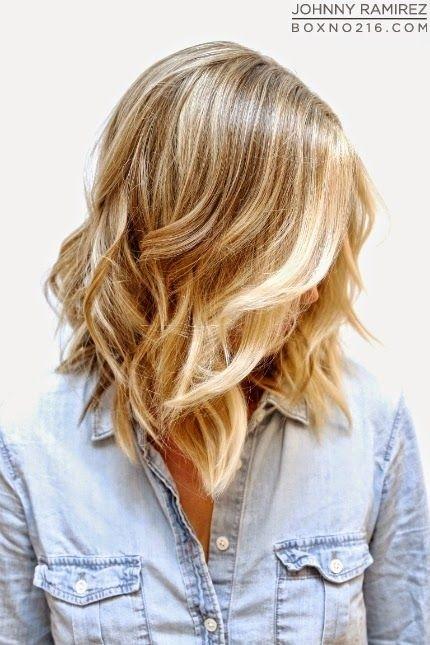 Medium Curly Wavy Hairstyle