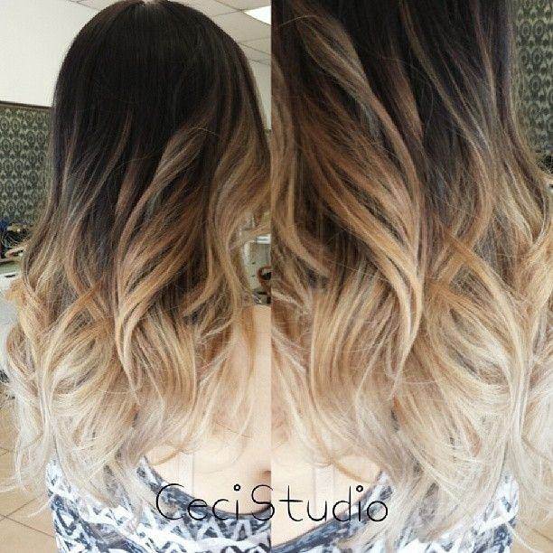 26 flattering hairstyles for medium length hair 2017 pretty designs medium wavy hairstyle for ombre hair urmus Choice Image