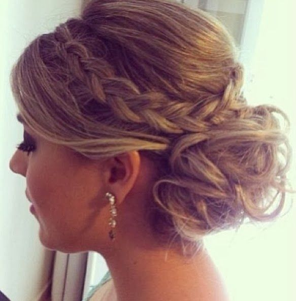 Messy Updo with Braid