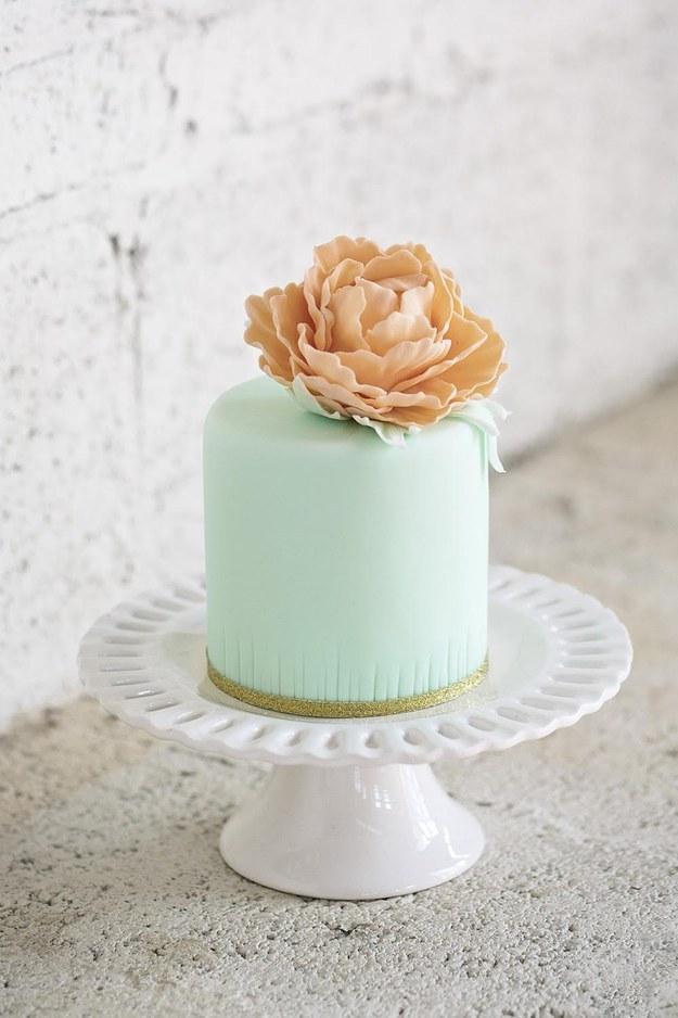 Mint-green Cake