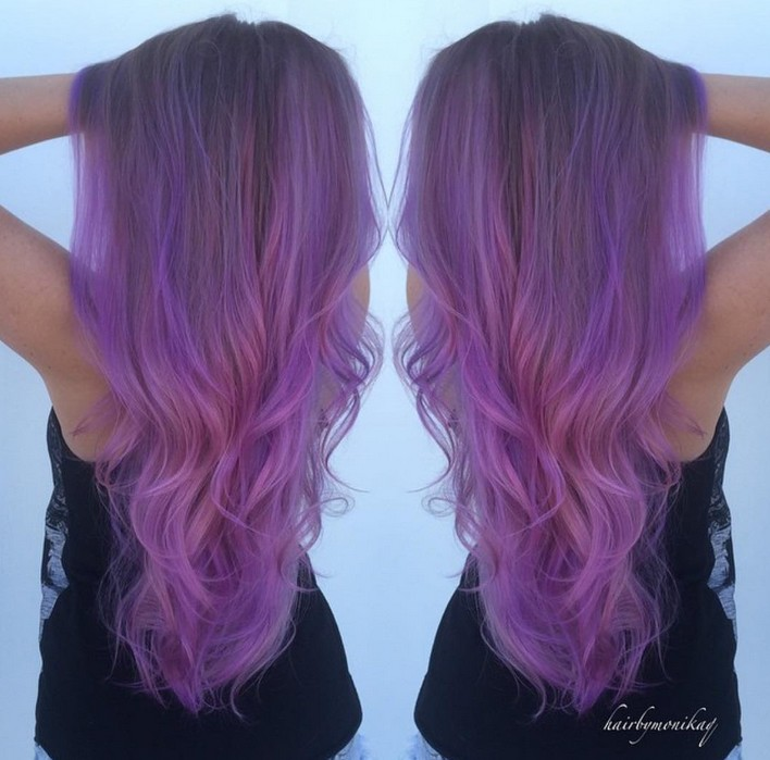 Pastel Purple Hair Extensions