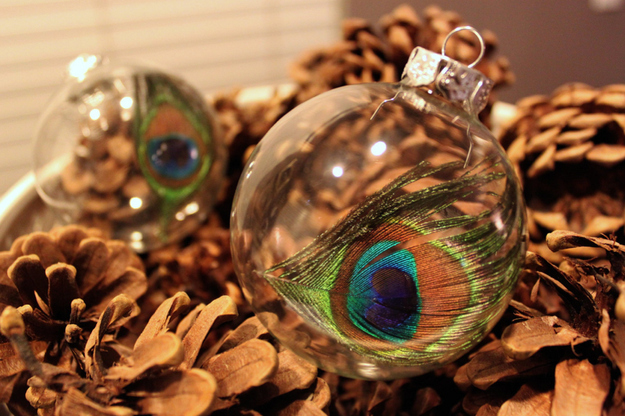 Peacock Feather Ornaments