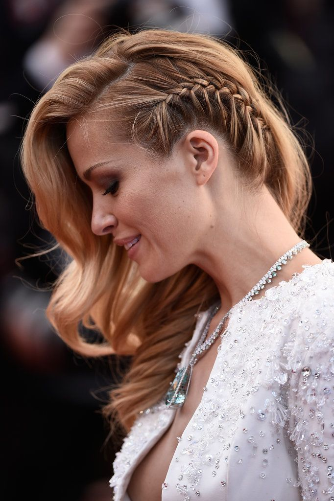 Petra Nemcova's braided hair