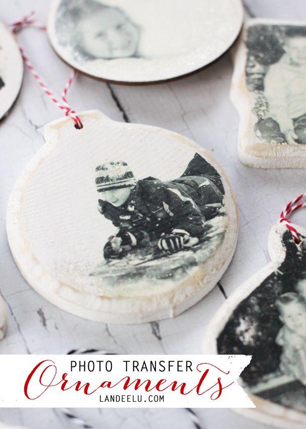 Photo Transfer Ornaments