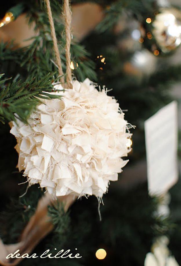 Pretty Homemade Christmas Ornaments
