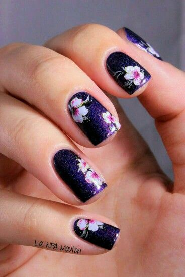 floral nails you must try for spring  pretty designs, Natural flower