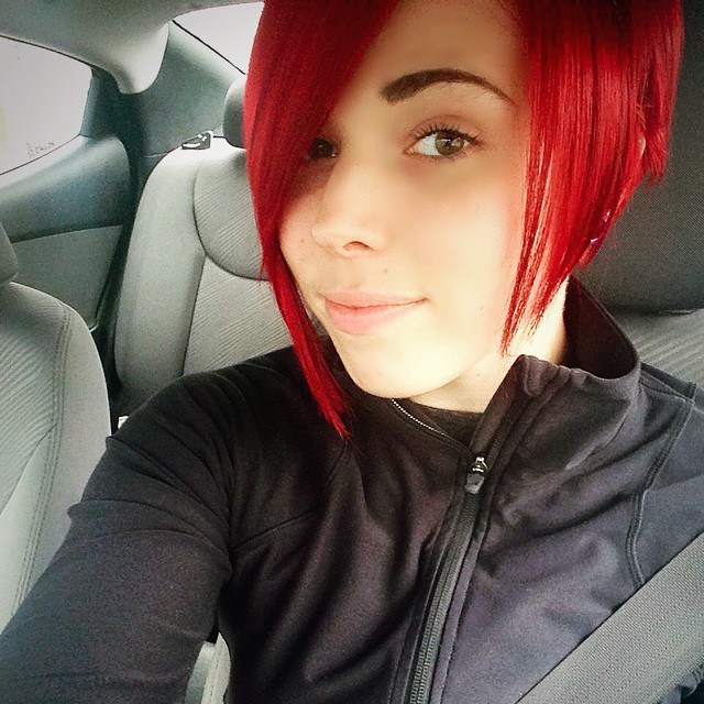 Red Angled Bob Hairstyles