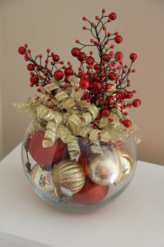 Red and Gold Holiday Décor