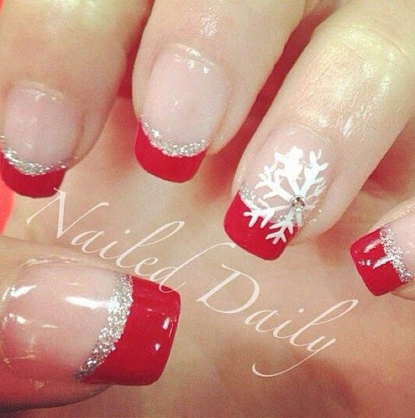 Red and Sliver Nails