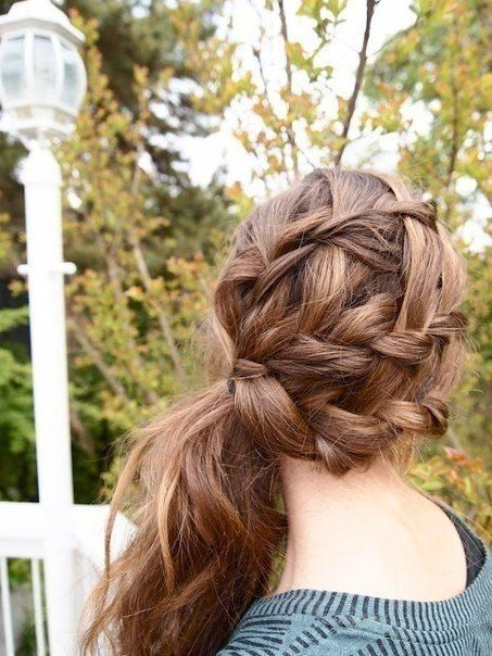 Romantic Side Ponytail Hairstyle