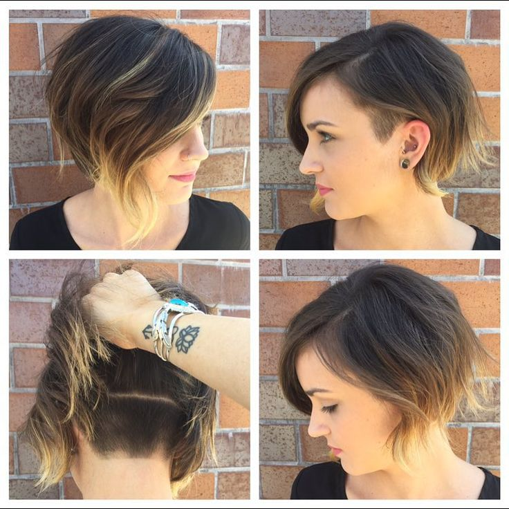 Short Bob Haircut with Highlights