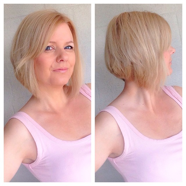 Short Graduated Bob Hairstyles for older women over 50