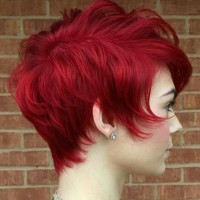 Short Layered Hairstyle for Red Hair