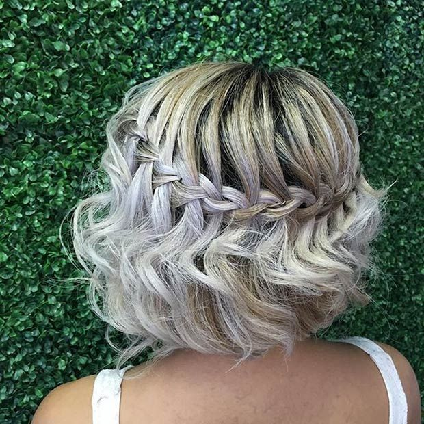Short waterfall bob hairstyle
