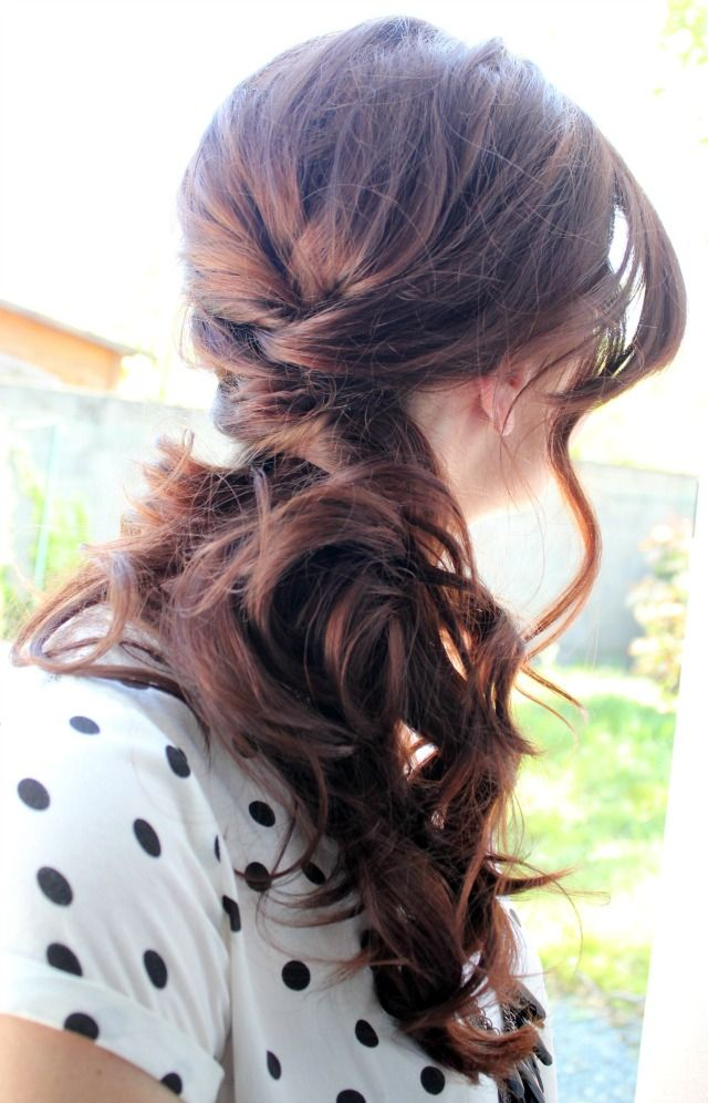 Side Ponytail Hairstyle for Long Hair