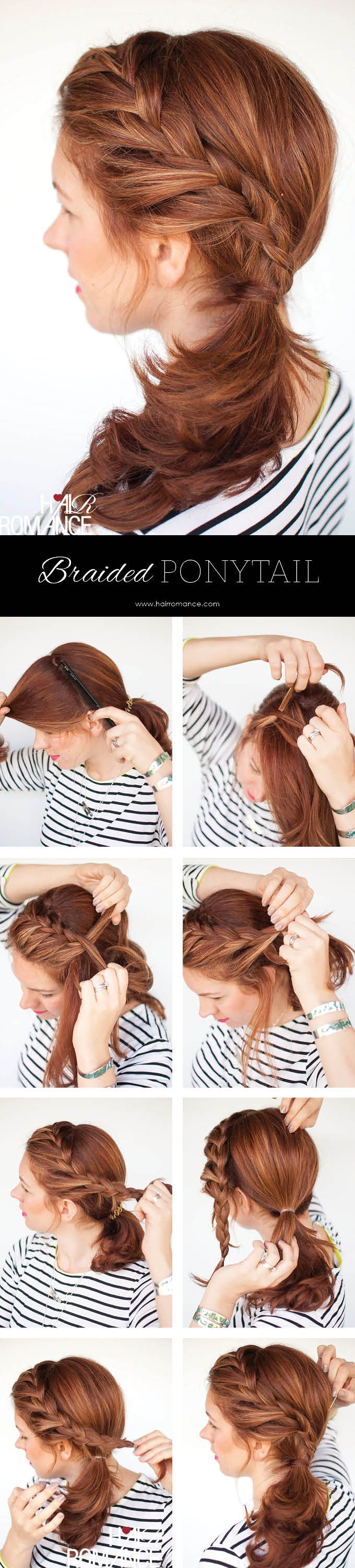 Side Ponytail Hairstyle for Medium Hair