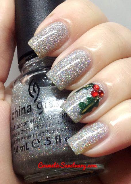 Sliver Glitter Nails