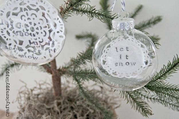Snow Doily Ornaments