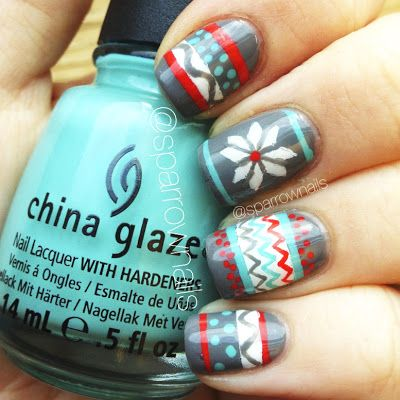 Snow Sweater Nails