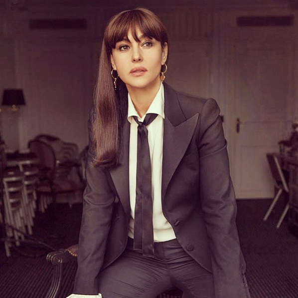 Suit and Long Hair
