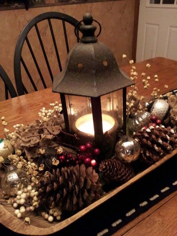 25 decorating ideas you want to try for christmas pretty for Christmas table decorations to make at home