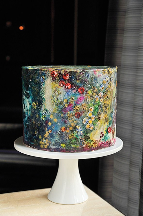Watercolor-inspired Cake