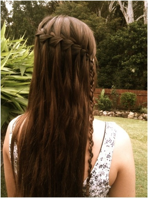 Pretty Waterfall Braid for Girls