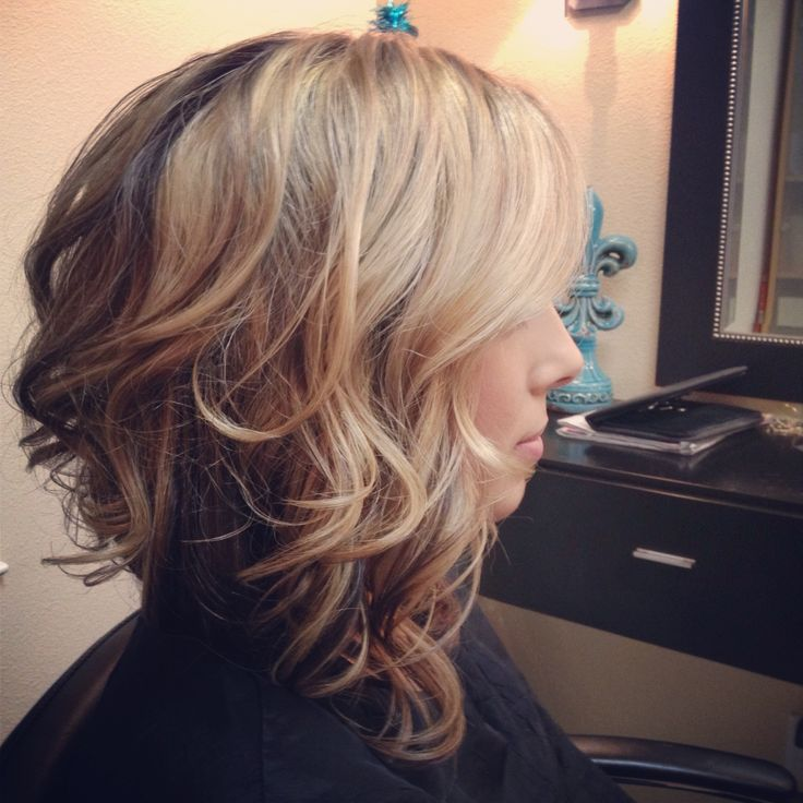 Wavy Asymmetrical Bob hairstyle for women