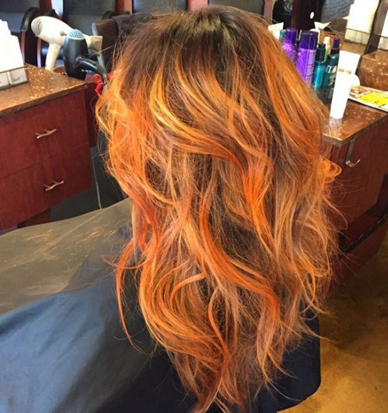 Wavy Ombre Hairstyle