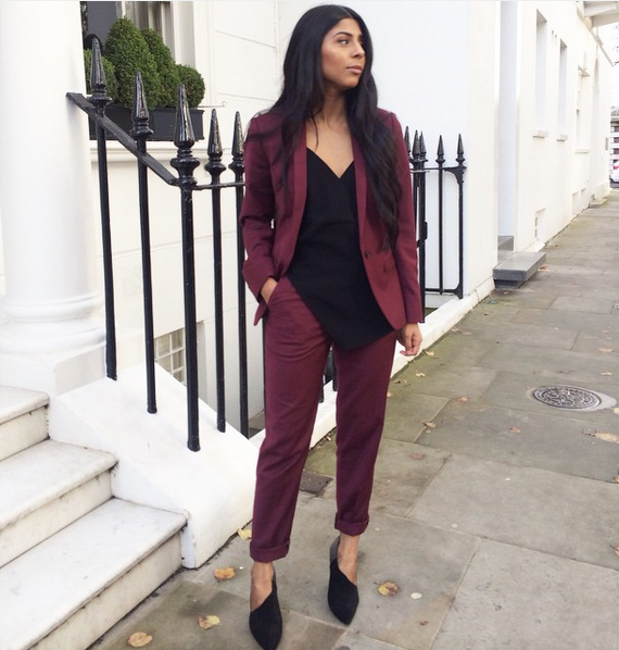 Wine Red Suit
