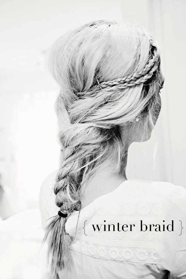 Winter Braid Hairstyle for Long Hair